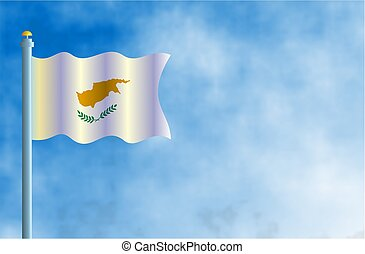 Cyprus - National flag of Cyprus.