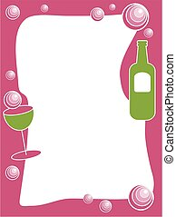 Party Drinks Border - Party drinks border design. Useful for...