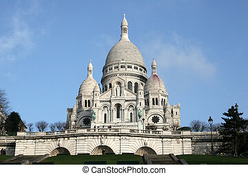 Sacre Coeur in Pari - Built on the Montmartre hill the...