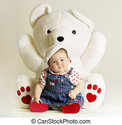 Baby love - Bundle of love and heart teddy