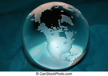 United States - Clear Globe with the focus on North America