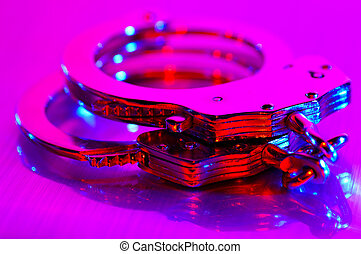 Cuffs - Handcuffs With Colored Lighting
