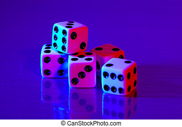 Dice 2 - Dice With Colored Lighting