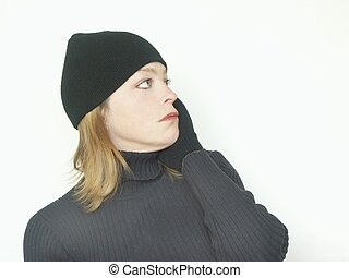 sideways - woman looking sideways,in aw,facinated,troubled