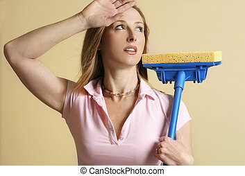 Tired of housework - Tired of laborious housework