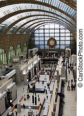 At the Orsay Museum - View from the second floor at the...
