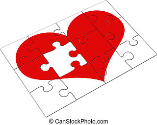 Jigsaw heart - Missing heart piece