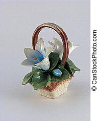 Knick Knack - Floral Basket Miniature