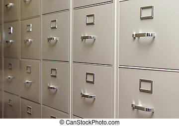Rows and rows - Rows after row of filing cabinets