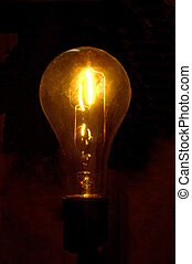 Yellow Bulb - incandescent lamp