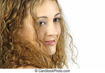 Teen Model 2 - Pretty teenage model with great hair