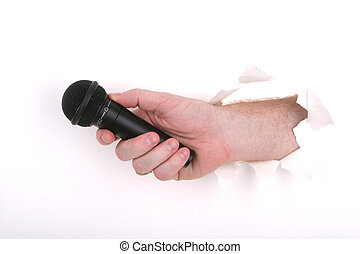 Your Opinions? - Microphone in White