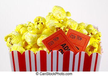 popcorn, biglietto