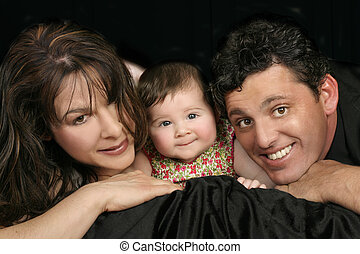 Family Trio - The family trio, mum, dad, baby girl