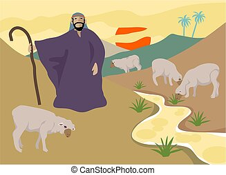 The Good Shepherd - The good shepherd takes care of his...