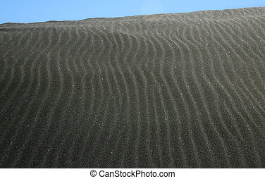 Black Sand Dune - a close up of a black sand dune on a HOT...