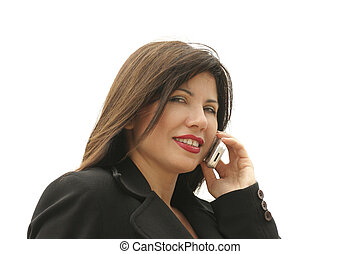 Businesswoman on phone - Businesswoman woth mobile phone...