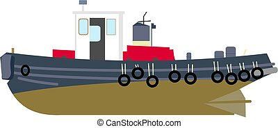Tug Boat - Tug boat drawing.