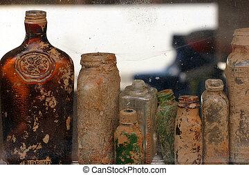 Old Bottles - Antique bottles dug out of a construction site