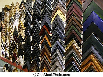 Picture Frames - Selection of custom picture frames. Taken...
