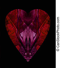 Heart 3 - This heart picture was created using a mixture of...