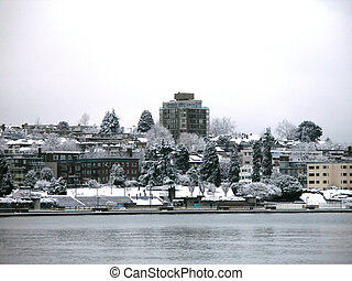 Snow in Vancouver - Winter in Vancouver, BC, Canada. Taken...