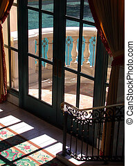French doors leading to a balcony
