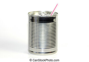 Can Beverage - Photo of a Can With a Straw