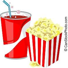 Movie Popcorn and Drink Clip Art : ペーパーフォトフレーム ダウンロード : すべての講義