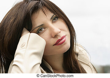 Daydreamer - Woman daydreaming, relaxing,