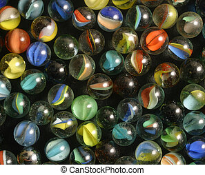 marbles - A cluster of cats eye marbles