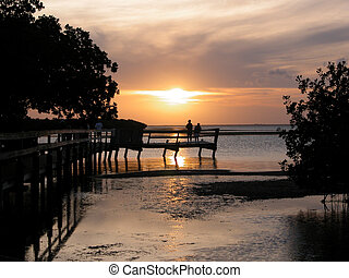 Sunset Key West Fl - Sunset Key West Florida at campsite we...