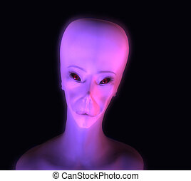 Glowing Alien - This is a computer generated image of an...