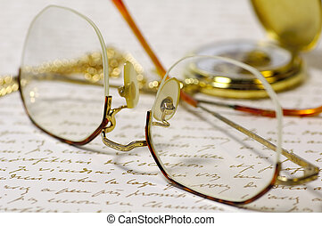 Reading Time - Eyeglasses and a Letter
