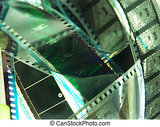 film reel - portion of movie film reel