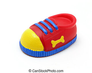 Dog Tennis Shoe - Dog toy tennis shoe isolated