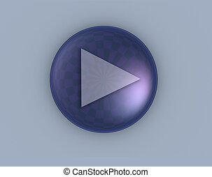 play - 3d button