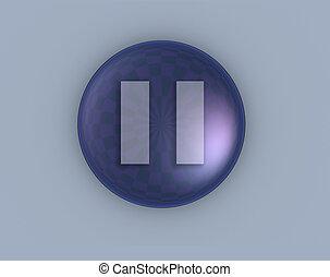 Pause - 3d pause button