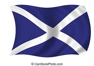 flag of scotland - waving flag of scotland