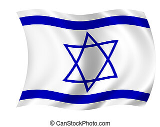 Flag of Israel - Waving flag of Israel - israeli flag