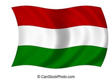 Hungarian flag - Waving flag of Hungary