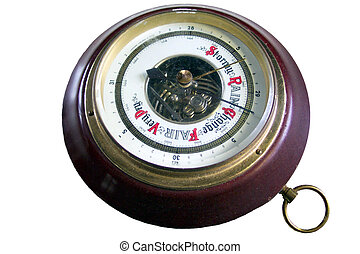 barometer - 2005-02-17 Natural color wooden barometer...