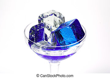 Blue Ice 2 - Glass With Blue Colored Ice. See Portfolio For...