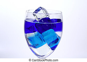 On Ice - Glass With BLue Colored Ice See Portfolio For...