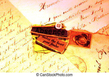 Love Letters and Saying Love Makes The Heart Grow Fonder -...