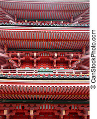 Pagoda-detail - A detail from a Japanese pagoda. It is the...