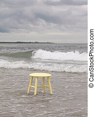 Places to sit - Stool in the ocean