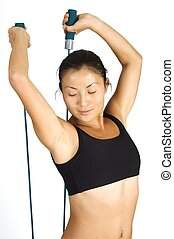 Rope Stretch - Stretch with skipping rope