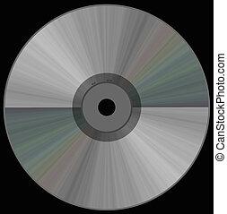 cd on black - cd on solid black background