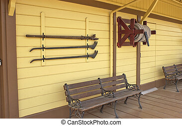 Vintage Railroad Station - old west refurbished railroad...
